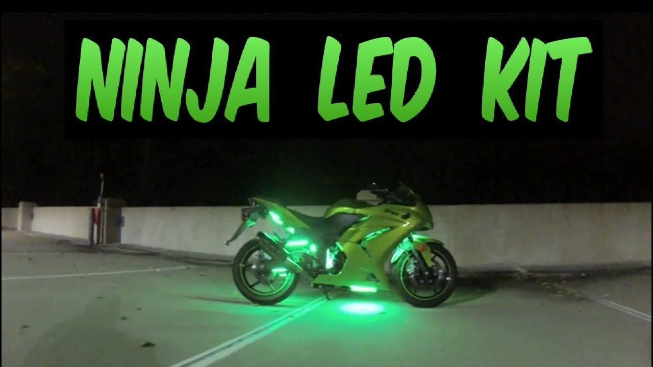 Motorcycle Led Kit >> LEDGlow Lights 2012 Ninja 250r advanced million color motorcycle led lighting kit - YouTube