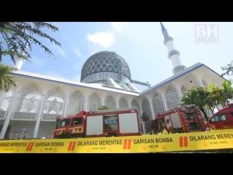 Bilik kuliah Masjid Sultan Salahuddin Abdul Aziz Shah terbakar