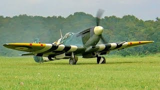 RC SPITFIRE ML-214 SCALE MODEL AIRPLANE FLIGHT DEMONSTRATION
