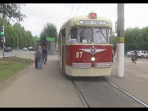 Ретро-трамвай в Нижнекамске