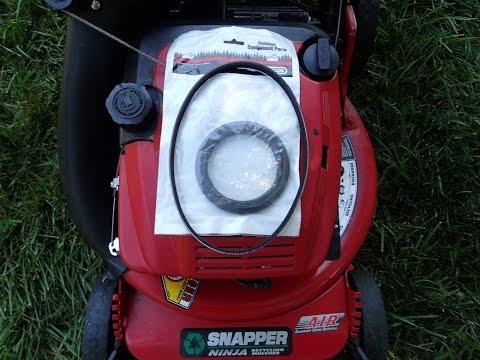 Snapper Big Six Ninja Lawn Mower NFRP216012E - Replacing Drive Ring & Transmission Belt-July 12.2016