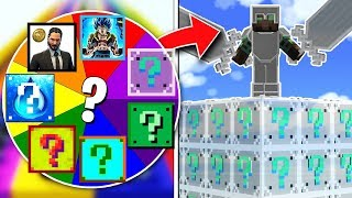 TURN THE ROULETTE OF LUCK AND WIN THE INVISIBLE LUCKY BLOCK!! 💥😱 LUCKY BLOCKS MINECRAFT MOD
