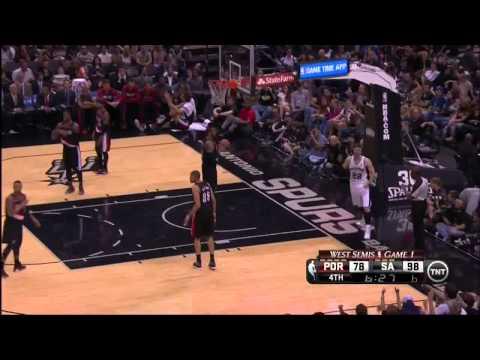 NBA, playoff 2014, Spurs vs. Trail Blazers, Round 2, Game 1, Move 43, Tiago Splitter, layup