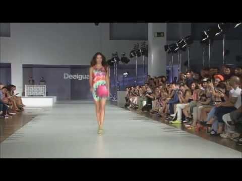 Adriana Lima walks at Desigual 2013 Fashion Show