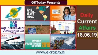Daily Current Affairs June 18 , 2019 : English MCQs | GKToday