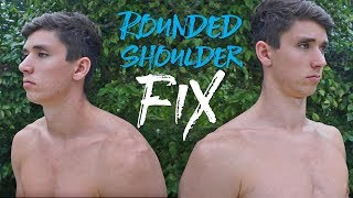 Fixing Rounded Shoulders and Nerd Neck (FULL ROUTINE)