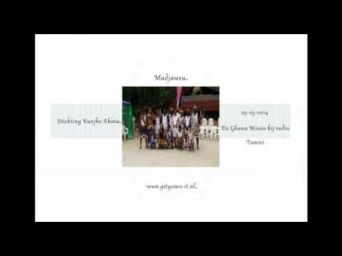 Basi Ramon Mac Nack bij radio Famiri De Ghana Missie 25-05-2014 (Madjawsu)