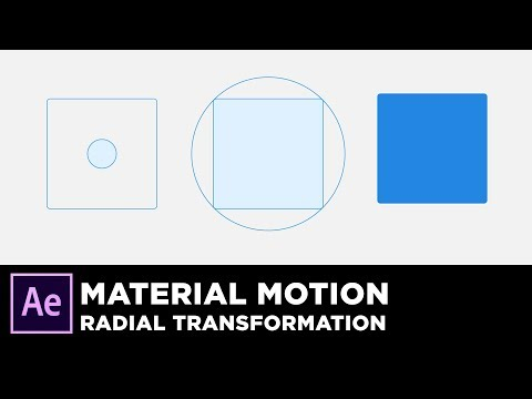 Material Design Motion - Radial Animation in After Effects Tutorial