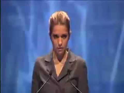 Eugenia Carr, Yulia Tymoshenko's daughter, addresses EPP Congress in Marseille, france