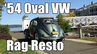 Classic VW BuGs 1954 Oval Window Ragtop Sunroof Beetle Restoration