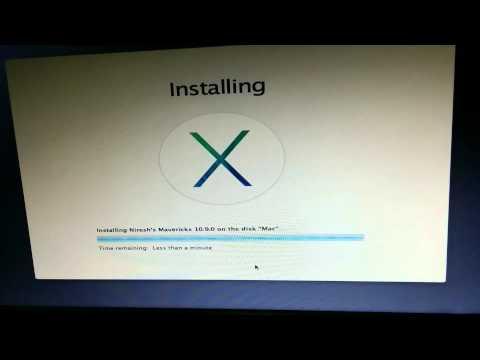 Install Mac OS X Mavericks 10.9 on Windows PC with Niresh