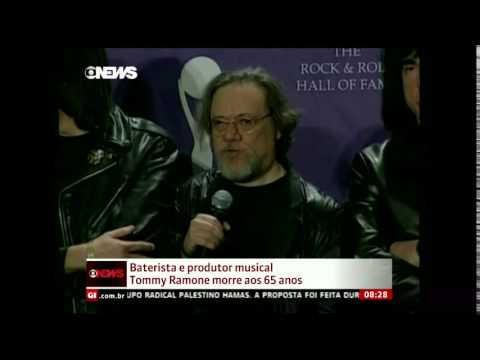 Morte de Tommy Ramone 2014 - The Ramones - Globo News