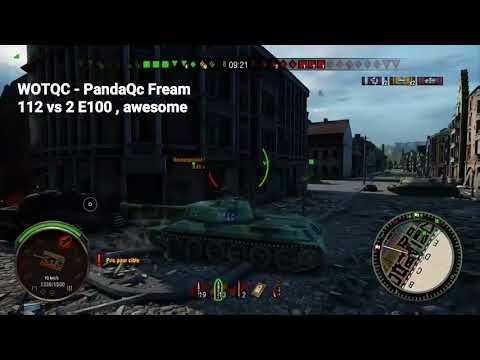 WOTQC - PandaQc Fream - World of Tanks Xbox - One 112  vs Two E100, Epic Fail