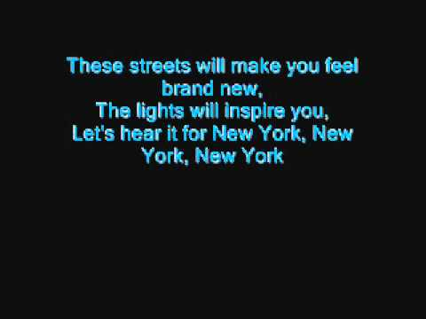 Glee- Empire State Of Mind (w  Lyrics) video