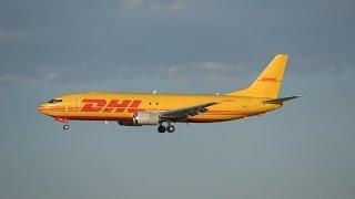 (4K) Rare DHL 737-400 Arriving in SLC