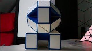 Rubik's snake or Rubik's twist - How to make a lion