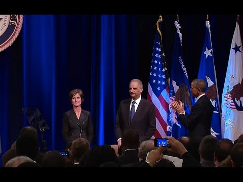 President Obama Speaks at the Departure Ceremony of Attorney General Eric Holder