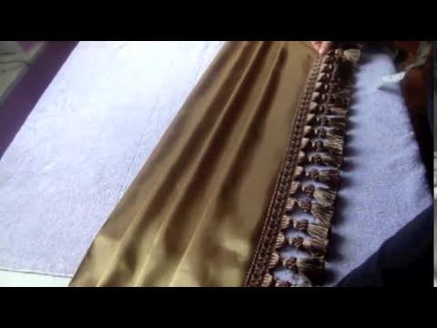 Como confeccionar las cascadas para la cortina drapeada Parte 2/3