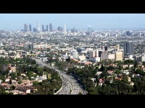 Traffic Rush in Los Angeles, Downtown | Time Lapse