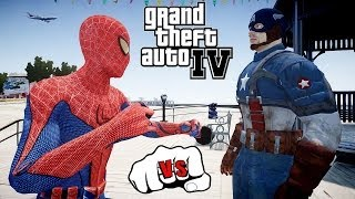 THE AMAZING SPIDER-MAN VS CAPTAIN AMERICA - EPIC SUPERHEROES BATTLE - GTA IV