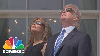 President Donald Trump Views The Solar Eclipse | CNBC
