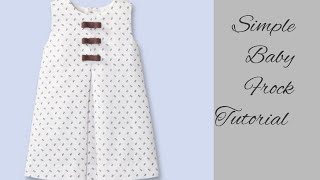 Stylish and simple baby frock cutting and stitching latest design