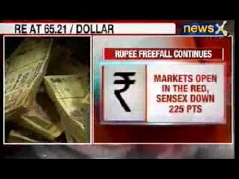 NewsX: Indian Rupee reaches 65.21 against US Dollar