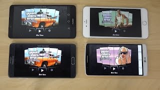 Huawei Ascend Mate 7 vs. iPhone 6 Plus vs. Samsung Galaxy Note 4 vs. LG G3 GTA San Andreas Gameplay