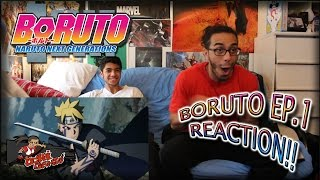 "BORUTO EP. 1 REACTION + Predictions!! | ""うずまきボルト!!"" | NEW TENSEIGAN?!"