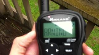 Nashville Tornado warning on weather radio with sirens