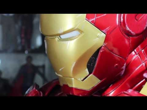 The Avengers Sideshow Collectibles Iron Man Mark VI Legendary 1/2 Scale Movie Bust Review