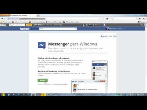 Descargar Facebook Messenger para PC Windows xp, Vista, 7