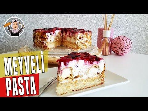 Profiterollü Meyveli Yaş Pasta Tarifi Videosu - Pasta Tarifleri