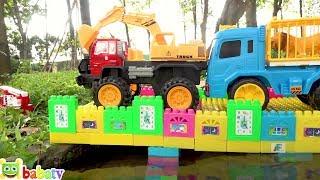 Xe Máy Xúc, Xe Cần Cẩu Tuyệt Đẹp | Đồ Chơi xe Ô Tô Cho Trẻ Em