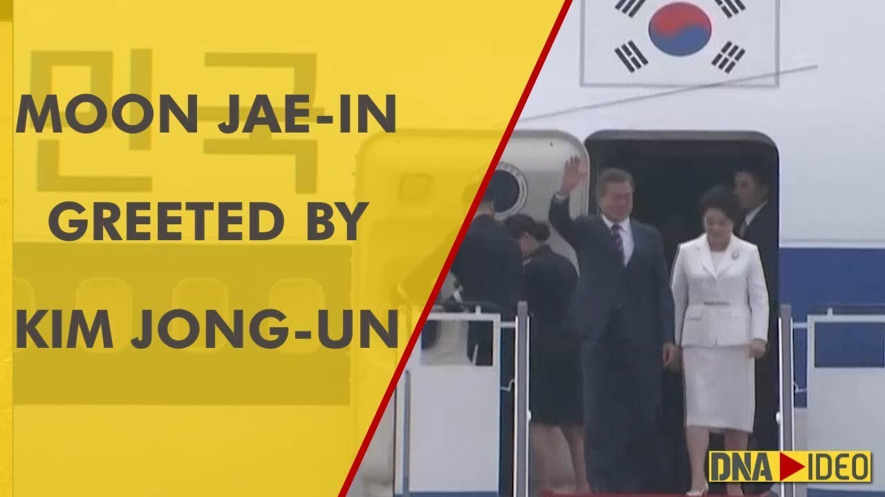Moon Jae-in greeted by Kim Jong-un at Pyongyang airport for high-stakes summit