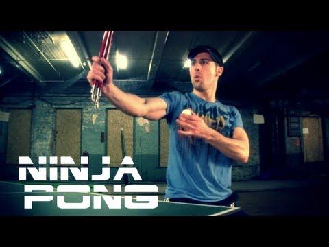 PING PONG WITH NUNCHUCKS - NINJA PING PONG