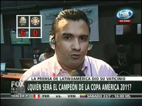 Fox Sports Central Encuesta Uruguay x Paraguay final Copa America 2011