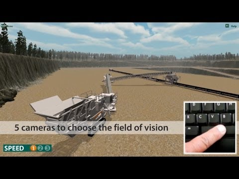 Metso Lokotrack Simulator: Serious Game for Mobile Crusher driving training
