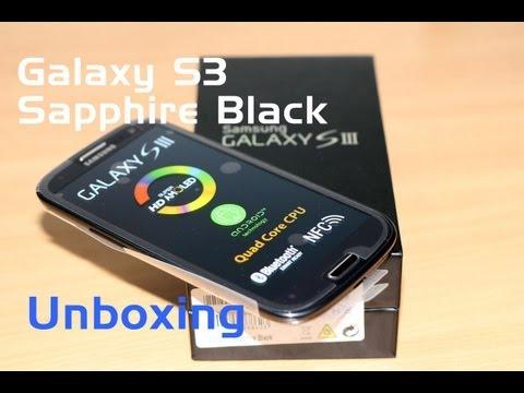 Samsung Galaxy S3 Sapphire Black Unboxing