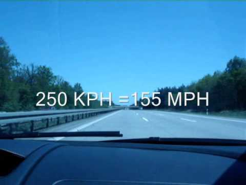 Driving Lamborghini on Autobahn at 305kph=189mph