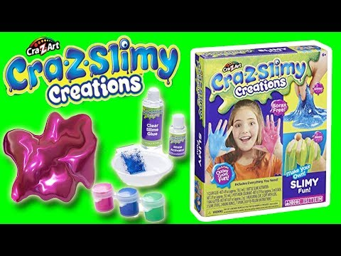 CRA-Z-SLIMY CREATIONS MAKING SLIME - OOEY GOOEY FUN| Little Kelly & Friends ToysReview for Kids