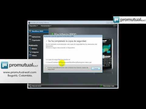 Como hacer la copia de seguridad y backup en Blackberry 8520 9300 9550 y otras