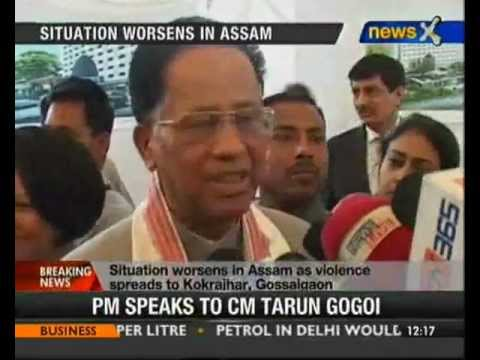 PM talks to Gogoi over Assam violence - NewsX