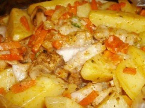 Картофель запечённый в рукаве