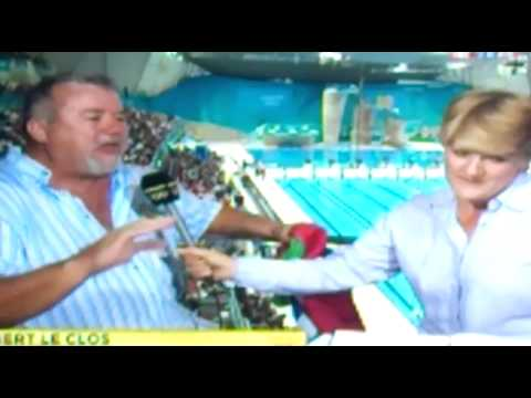 Olympic s Chad Le Clos  father Burt Le Clos