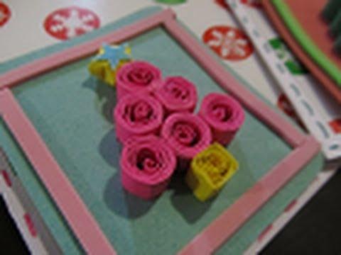 Tarjeta navide a de filigrana facil youtube - Como hacer tarjetas de navidad faciles ...