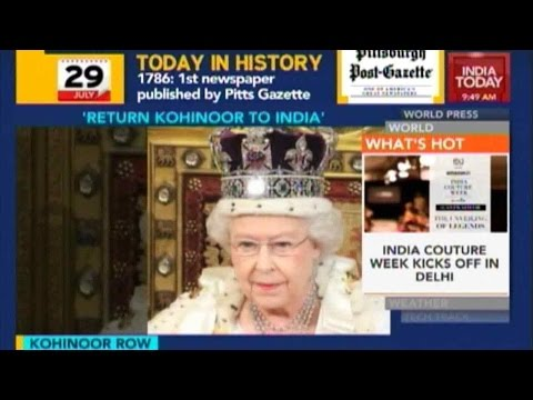 Return Kohinoor Diamond To India: British MP Backs Shahsi Tharoor