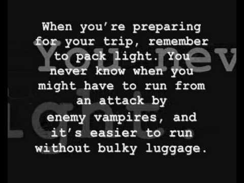 101 Tips fro Traveling with a Vampire