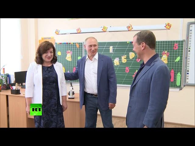 Путин посетил образовательный центр Бухта Казачья в Севастополе