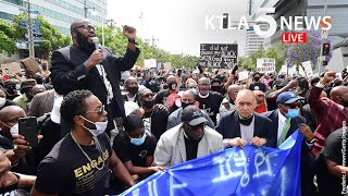Protests, unrest continues in Los Angeles in wake of George Floyd killing | KTLA 5 News